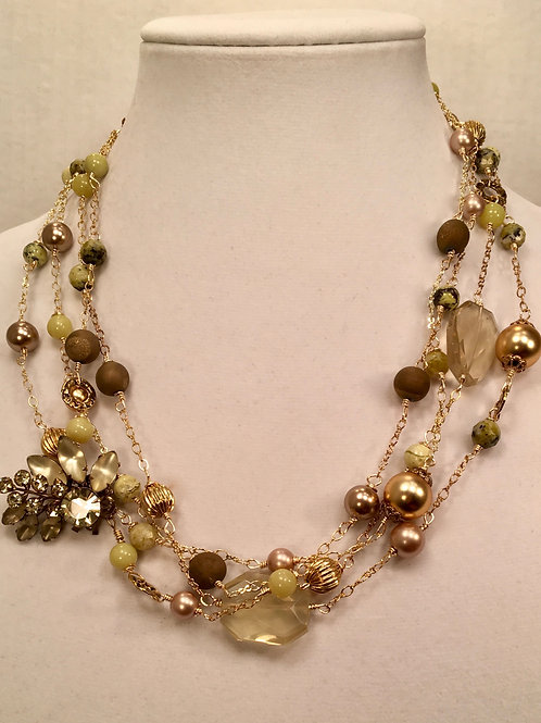 Allison Necklace with Vintage