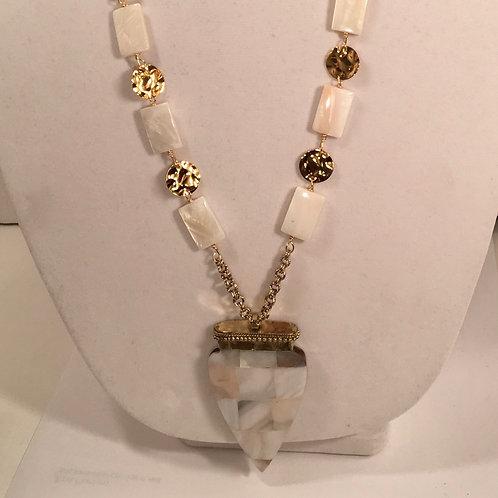 Tibetan arrowhead necklace