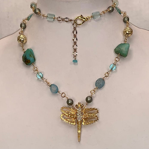Dragonfly Marti Necklace