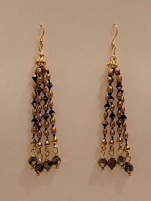 Long tassel earring