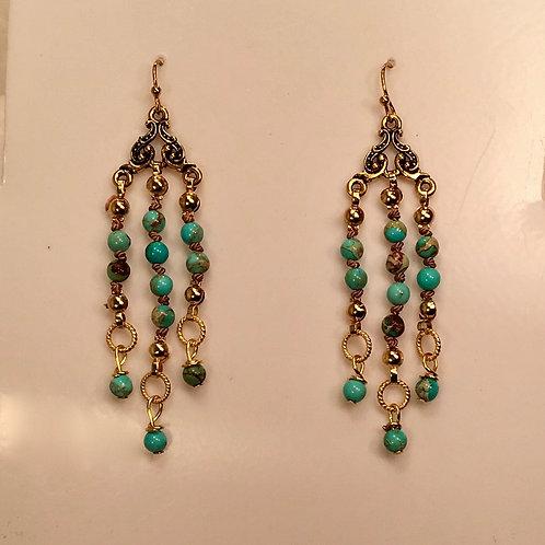 Blue Stone Earring