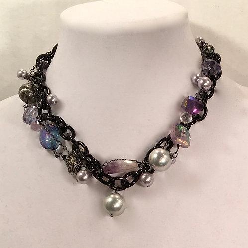 Ella Necklace in Purples.