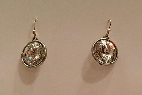 Clear Swarovski Crystal earring