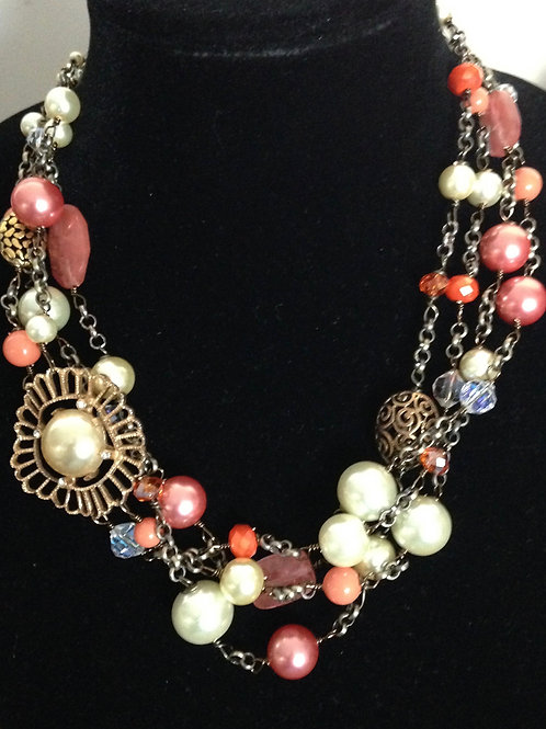 Allison Necklace in Coral