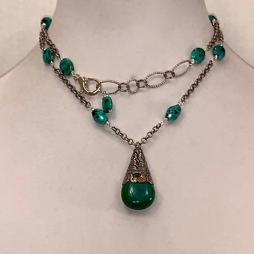 Tibetan Drop Necklace