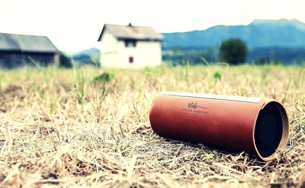 Leather speaker