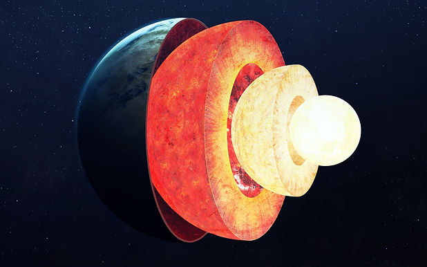 Earth core structure. Elements of this image furnished by NASA.jpg