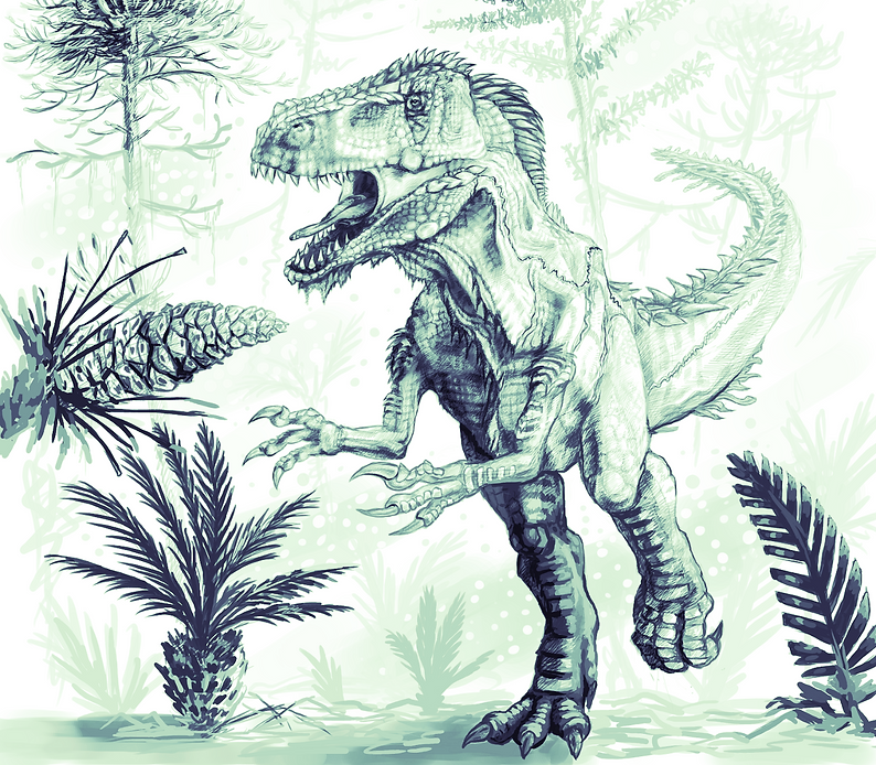 Megalosaurus bucklandii drawn by Andrew Orkney