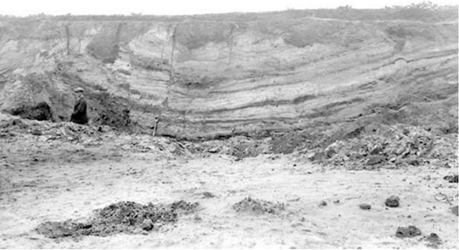 BGS archive image of ochre pits at Wheatley