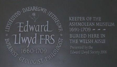 Edward Lhuyd's Commemorative Plaque