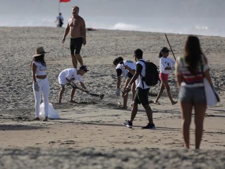 limpiezas de playa y fondo marino en todos nuestros eventos de surf
