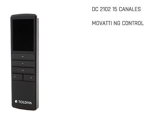 MOVATTI NG CONTROL REMOTO DC2102 (15 CANALES ) LOGO TOLDIVA