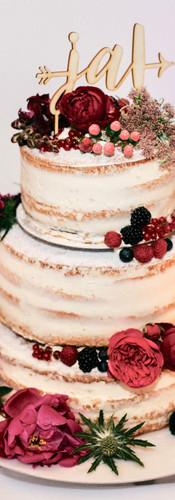 Hochzeitstorte im Naked-Cake-Design