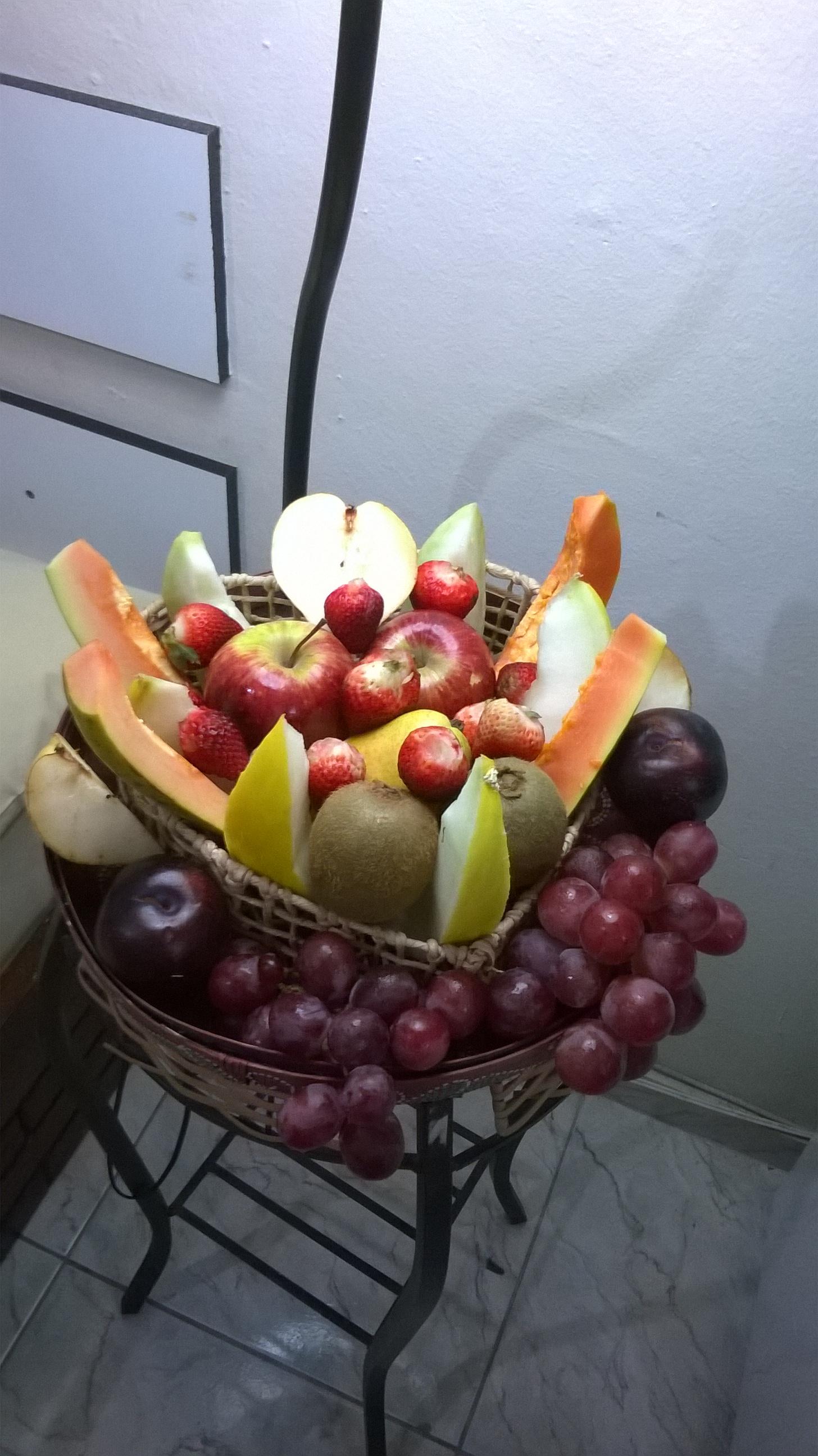 Bandeja com frutas