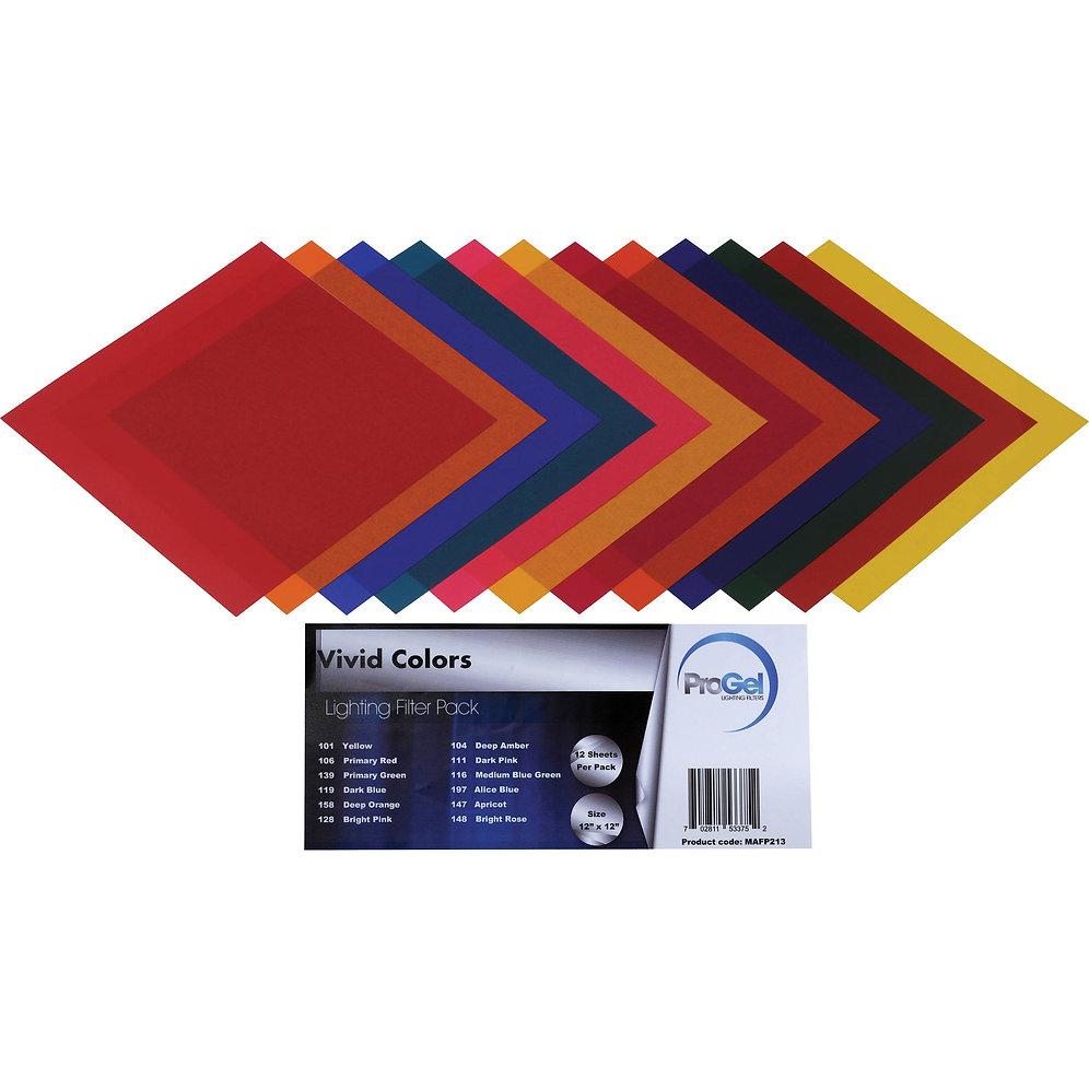 Colour gels sheets   Tempe Studios