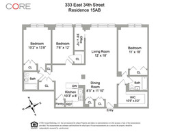 floor plan-333 East 34th Street, Unit 15AB