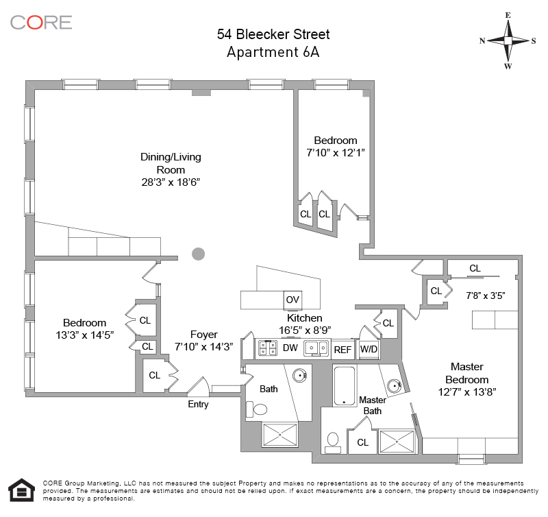 54 Bleecker Street 6A Floor Plan