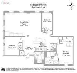54 Bleecker Street 6A Floor Plan