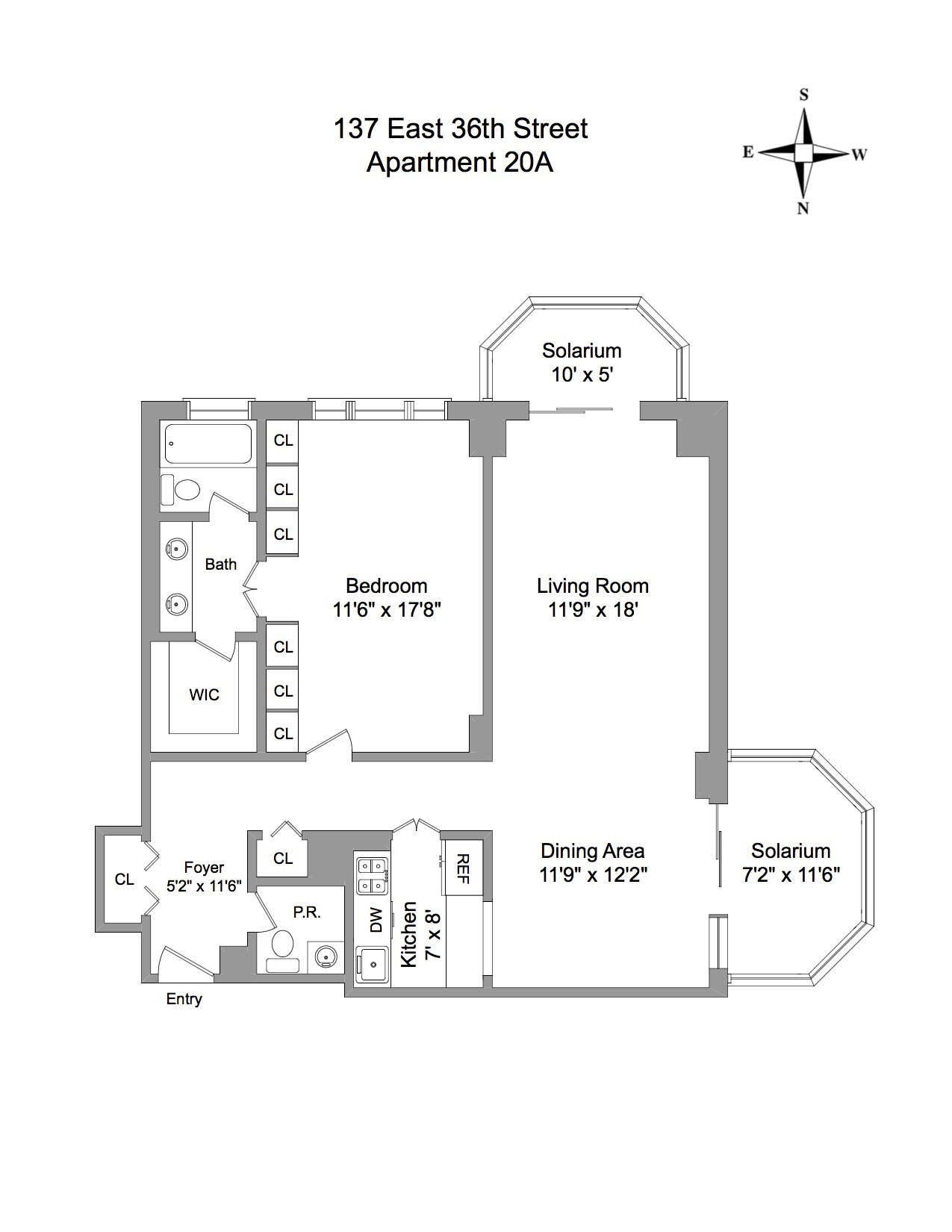 Floor Plan - 137 East 36th Street 20A