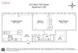 315 West 70th Street 18D Floor Plan