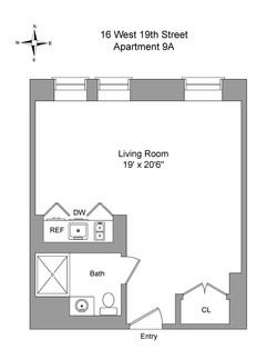 Floor Plan - 16 West 19th Street 9A.jpg