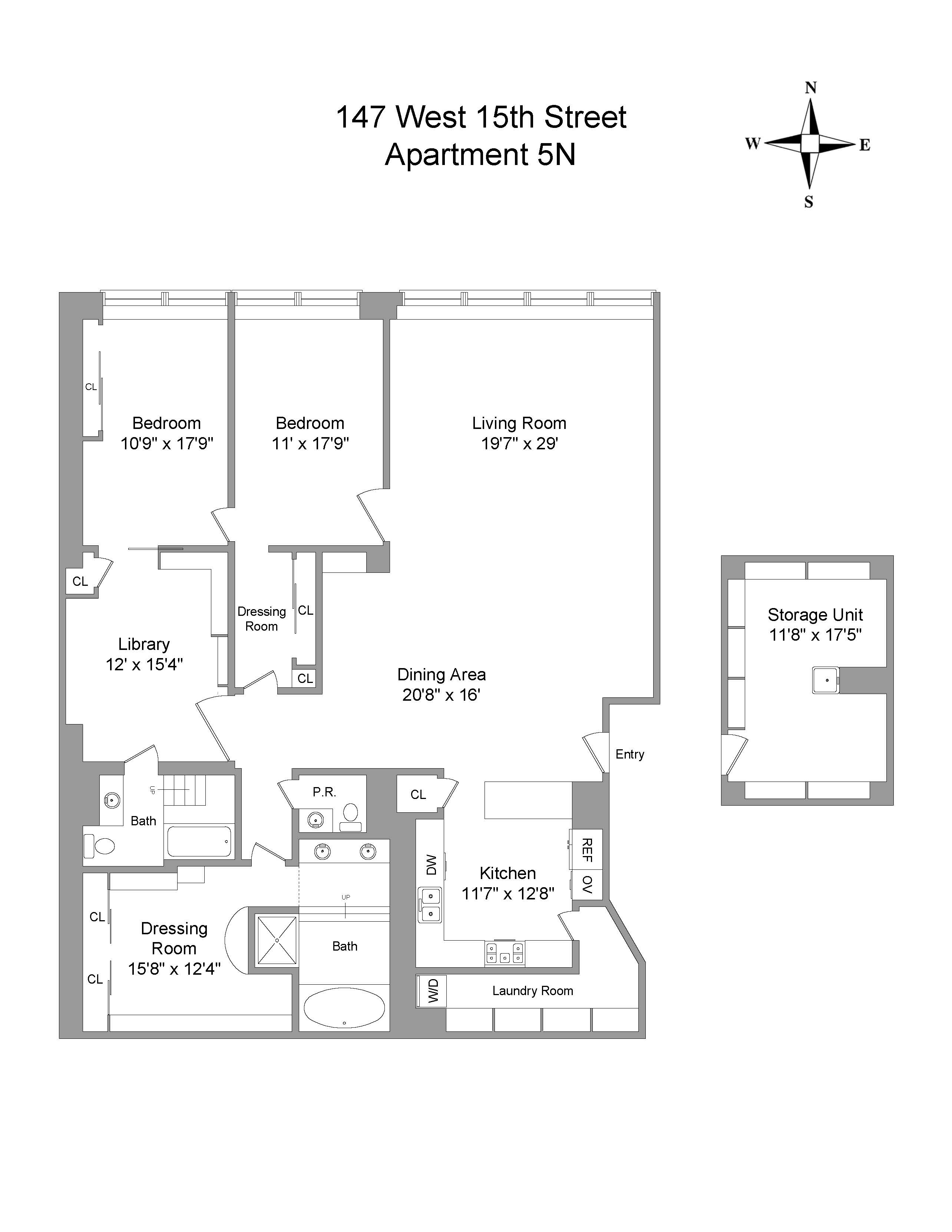 Floor Plan - 147 West 15th 5N.jpg