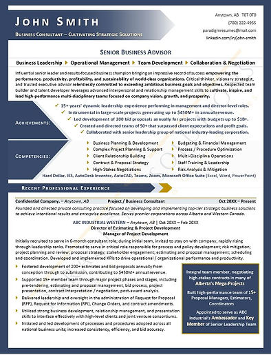 Executive Resume Sample_Consultant_Pg_1.