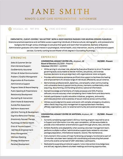 Professional Resume_ Sample_Pg 1.JPG