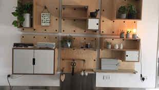 מטבח בבית פרטי בקיבוץ חפציבה