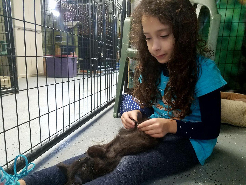 Elli with kitten