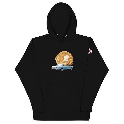 Unisex Pancake Black Hoodie