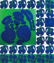 İsimsiz, 1990 Tuval üzerine akrilik 310 x 265 cm