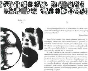 """Beden 4. Seri IV, 1999 """"Zeynep Sayın / Mithat Şen ve Beden Yazısı I"""" için bilgisayarla tasarlanmış 13 parçadan oluşan bütün, kitap sayısı kadar kitap üzerinde çoğaltılmıştır."""