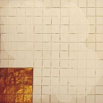 İsimsiz, 2005 Tuval üzerine model hamuru ve akrilik 123 x 123 cm