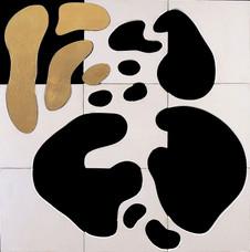 İsimsiz, 2005 Şasiye gerilmiş tuval bezi ve altın varak 123 x 123 cm