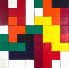 Tetris Serisinden, 1996 Tuval üzerine model hamuru ve akrilik 165 x 165 cm