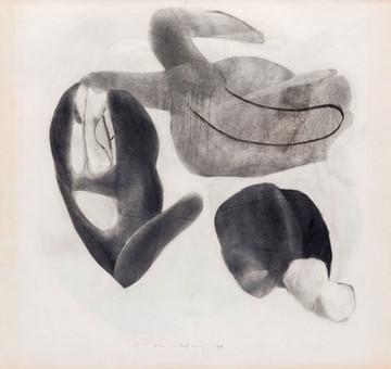 İsimsiz, 1984 Kâğıt üzerine karışık teknik 50 x 53,5 cm