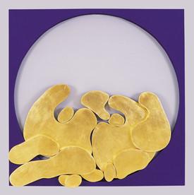 İsimsiz, 2006 Şasiye gerilmiş karışık malzeme 123 x 123 cm