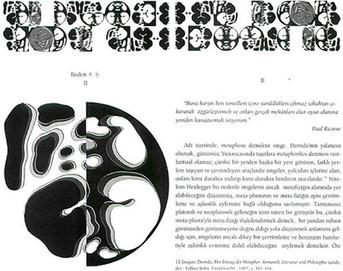 """Beden 4. Seri II, 1999 """"Zeynep Sayın / Mithat Şen ve Beden Yazısı I"""" için bilgisayarla tasarlanmış 13 parçadan oluşan bütün, kitap sayısı kadar kitap üzerinde çoğaltılmıştır."""