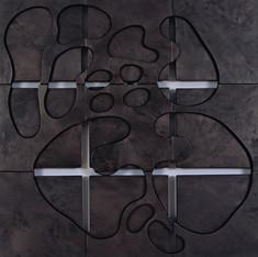 İsimsiz, 2006 Şasiye gerilmiş boyanmış parşömen 123 x 123 cm