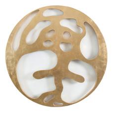 İsimsiz, 2005 Şasiye gerilmiş tuval bezi üzerine altın varak Ø 123 cm
