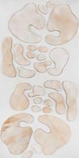 İsimsiz, 2012 Şasiye gerilmiş kumaş ve parşömen 200 x 100 cm