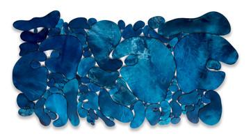 """""""Âlem"""" Serisinden 6, 2020 Şasiye gerilmiş boyanmış parşömen 116 x 240 cm"""