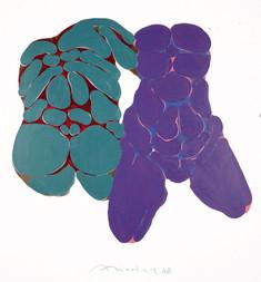 Üçlü Kalıpla Sekizleme Serisinden, 1988 Tuval üzerine akrilik 120 x 110 cm