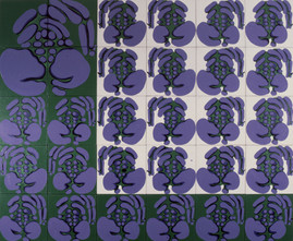 İsimsiz, 1990 Tuval üzerine akrilik 220 x 310 cm