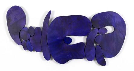 """""""IV. İstif"""" Serisinden 3, 2019 Şasiye gerilmiş boyanmış parşömen 65 x 143 cm"""
