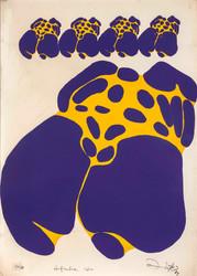 Okuyanlar İçin, 1989 Karton üzerine ipek baskı 70 x 50 cm Ed. 40