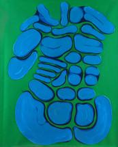 İsimsiz, 1989 Tuval üzerine akrilik 100 x 80 cm