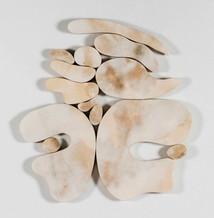 """""""III. İstif"""" Serisinden 7, 2017 Şasiye gerilmiş parşömen 100 x 93 cm"""