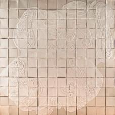 İsimsiz, 1994-95 Branda üzerine model hamuru ve akrilik 120 x 120 cm